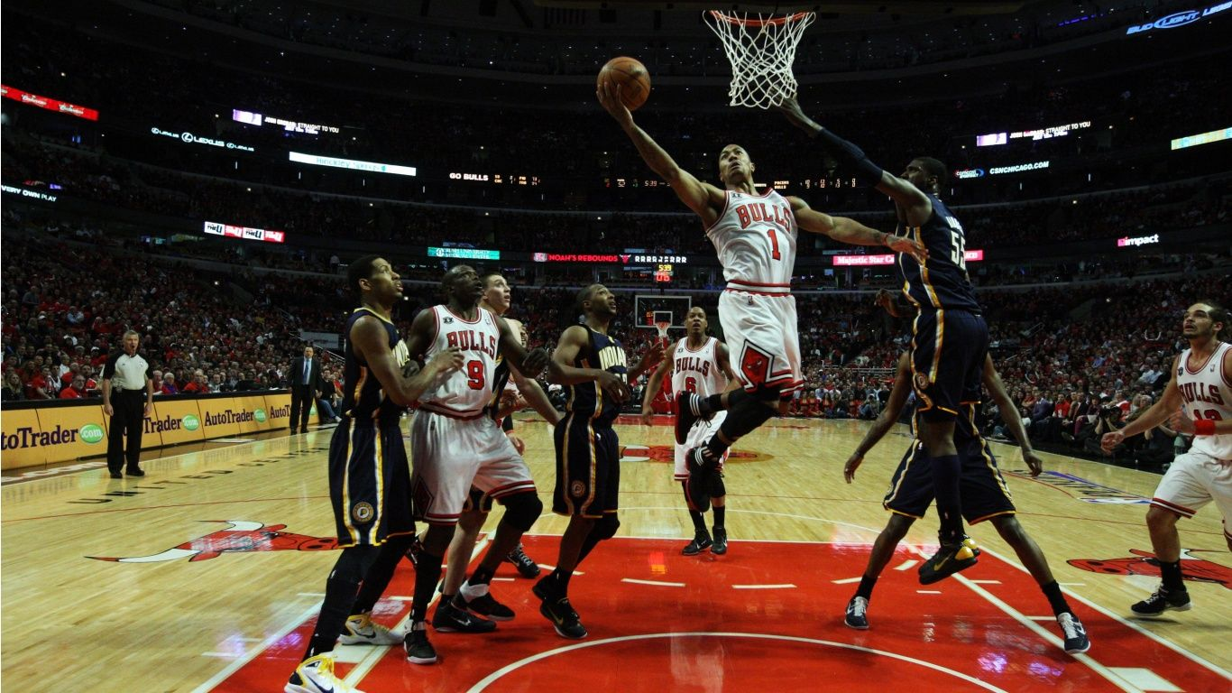 Nba Basketball 1366x768 441039 Sports Wallpapers Chicago Sports Sports