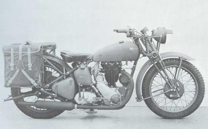 1942 La 3hw Monocilindrica350cc Ohv E Stata La Triumph Costruita In Maggiornumero Di Esemplari Nel Peri Triumph Motorcycles Vintage Bikes British Motorcycles