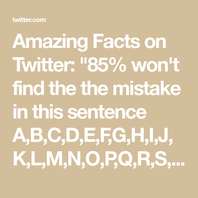 Amazing Facts On Twitter Fun Facts Facts Sentences