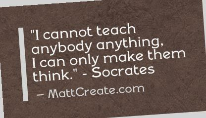 Quote of the Day  ★ Like this?  Sharing is caring!★  #QuoteOfTheDay #Quote #qotd  #MCqotd  <— Click for my previous quotes of the day.  #Socrates  #Inspirational #Life