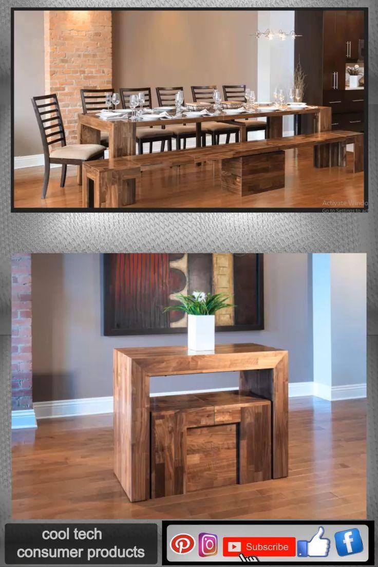 Platzsparender Esstisch mit Sitzbank für kleine Räume wie
