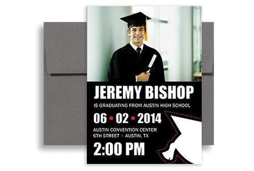 2015 DIY Template Graduation Party Invitation 5x7 in Vertical
