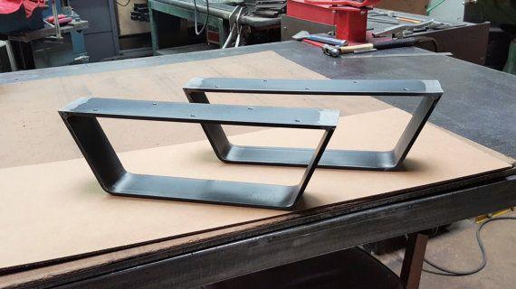 Coffee Table Metal Legs Industrial Legs 2 5 Quot Flat Bar Raw