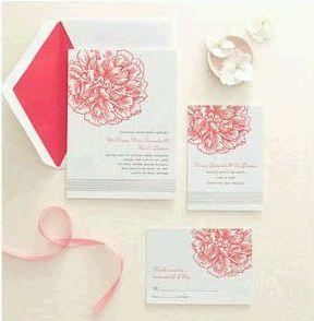 Martha Stewart Peony Wedding Invitations | Wedding ...