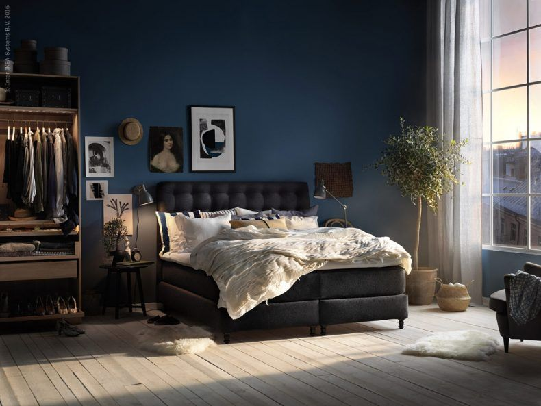 vallavik boxspring hyllestad stevig tuss y grijs bedrooms ikea bedroom and interiors. Black Bedroom Furniture Sets. Home Design Ideas