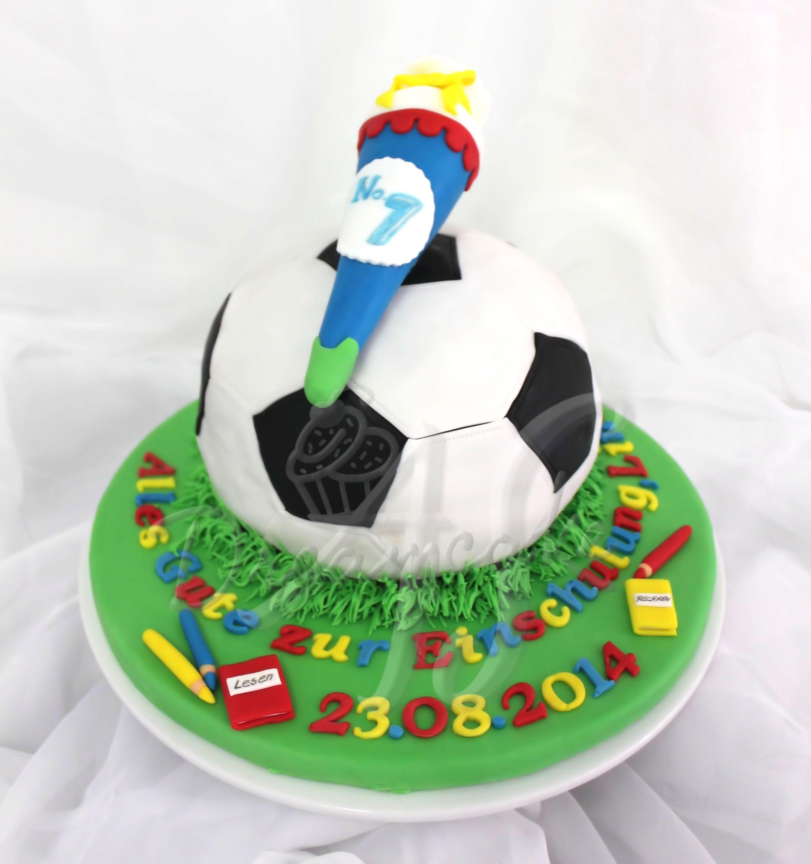 Schulanfangstorte Fussball Torte Einschulung Kuchen Einschulung Kuchen Und Torten