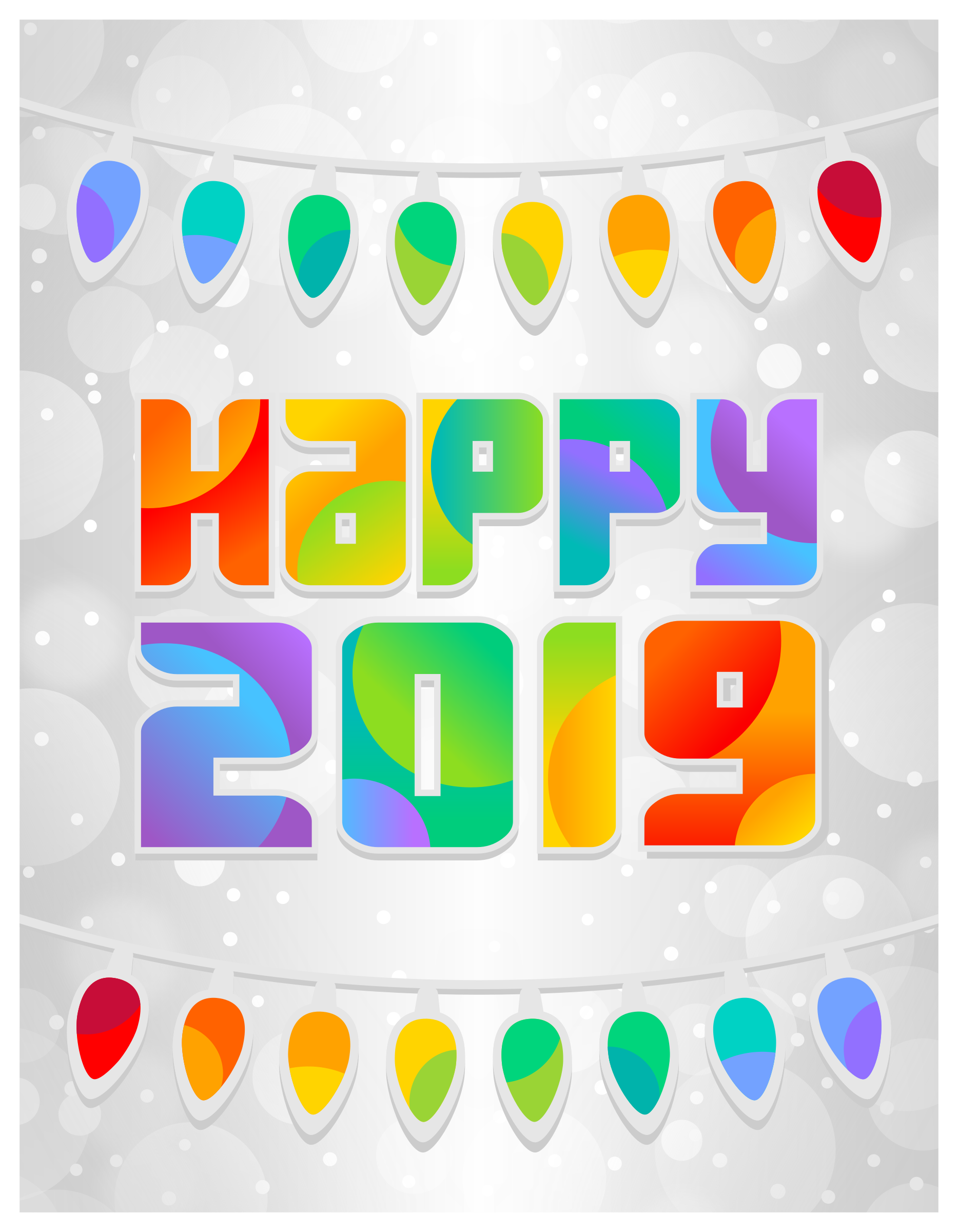 Happy New Year Clipart 2019 For Print New Year Greeting Cards Merry Christmas And Happy New Year New Year Greetings