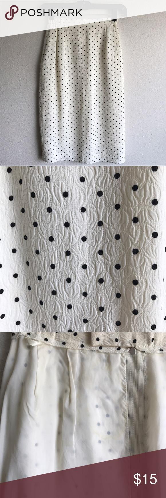 Cream skirt with black polkadots | Cream skirt, Black cream and ...