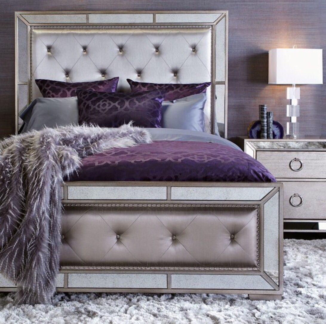 Grey Aubergine Royal Combination Champagne Bedroom Silver