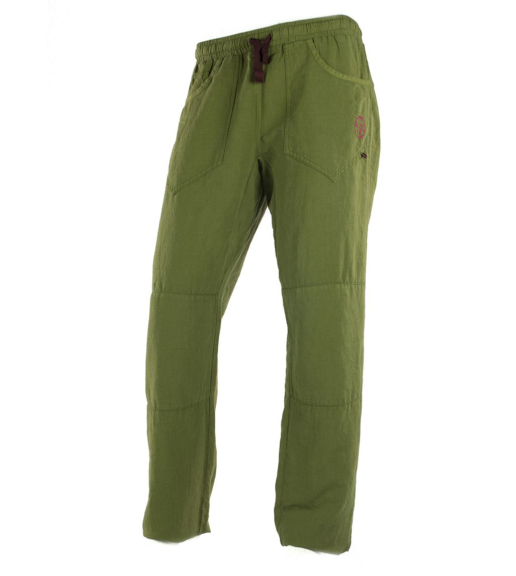 Pantalon Trekking Montesa Verde Hombre Pantalones Pantalones De Lino Pantalones Verdes