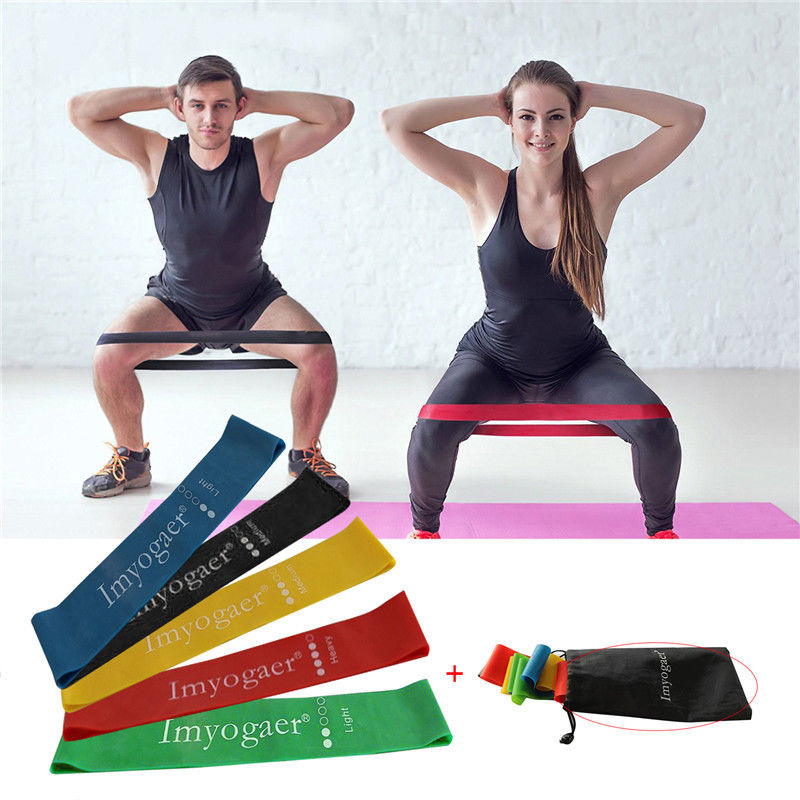 Elastic Resistance Loop Bands Exercise Crossfit Yoga Fitness Gym Training lot