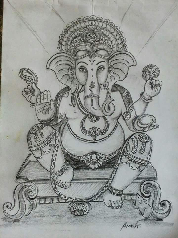 Pin by Sandhya Sanjay on sketch in 2019 | Ganesha sketch ...