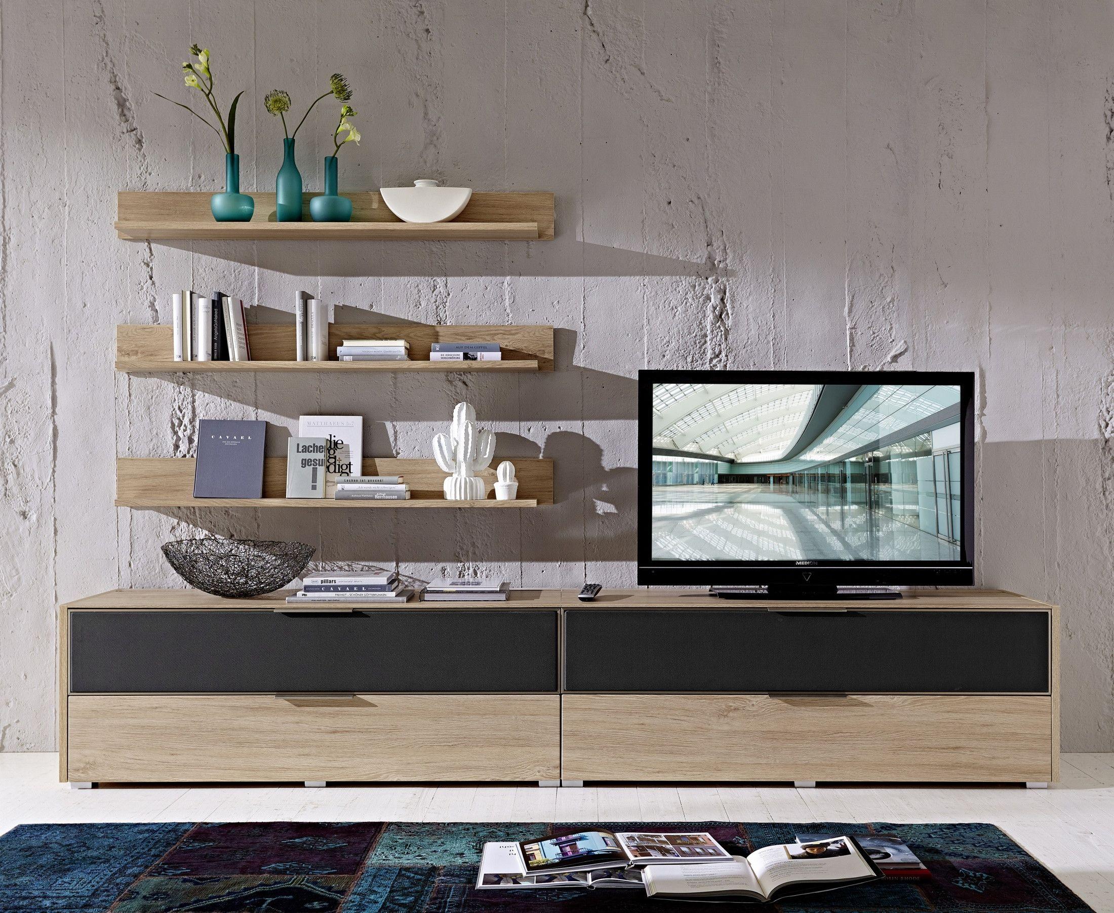 wohnwand eiche alurahmen mit akustikstoff grau woody 22 00817 modern jetzt bestellen unter. Black Bedroom Furniture Sets. Home Design Ideas