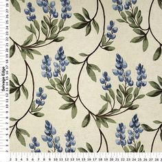 Bon Teal Wisteria Home Decor Fabric   Panel Coordinating Fabrics