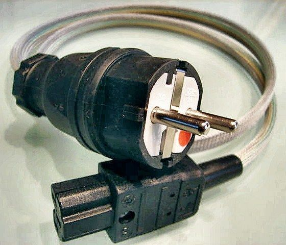 Ag (silver, solid core) power cable
