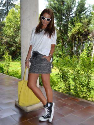 e7f97bcfc 16 Looks con falda y converse para días casuales | clothes | Looks ...