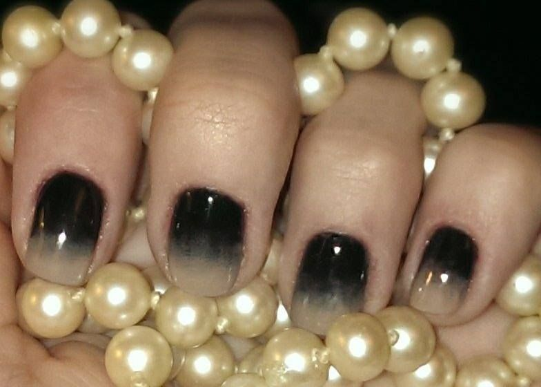 Try a Chanel inspired nail fade! With GelEnvy in Toffee & Cream and Midnight, this mani is so easy! Shop this look at www.lacquerenvy.com