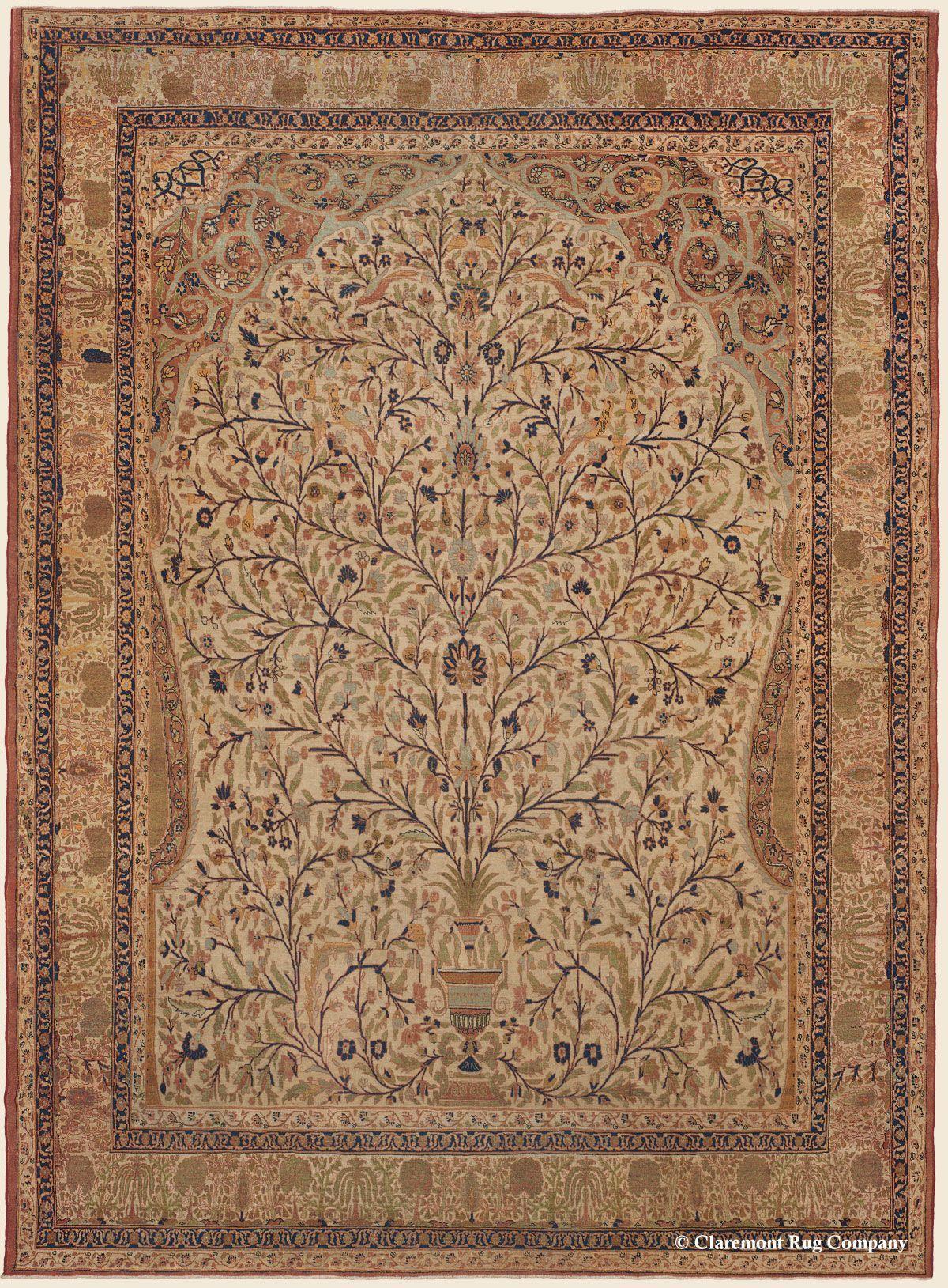 Hadji Jallili Haji Jalili Tabriz Rugs Claremont Rug Company Antique Persian Carpet Rug Company Rugs