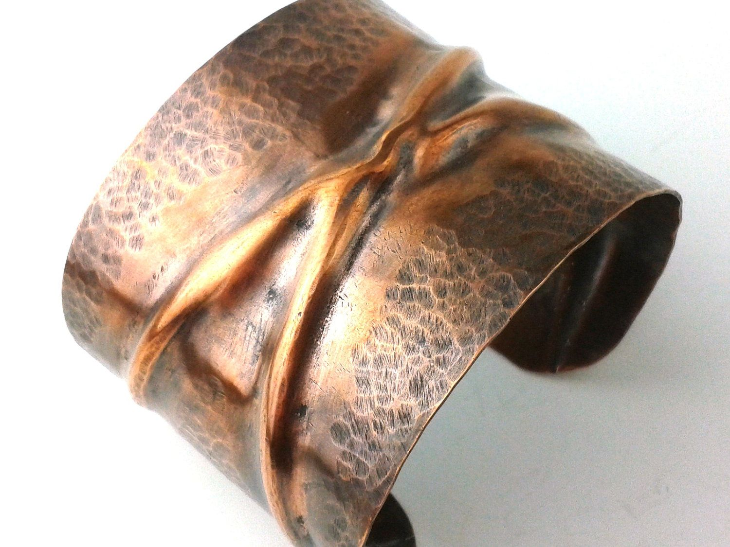 Fold Formed Jewelry Bracelet Cuff Antique Rustic