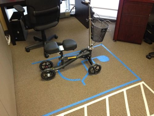 When recovering after foot surgery, the knee scooter not only allows you to get back to work, but get you preferred parking.