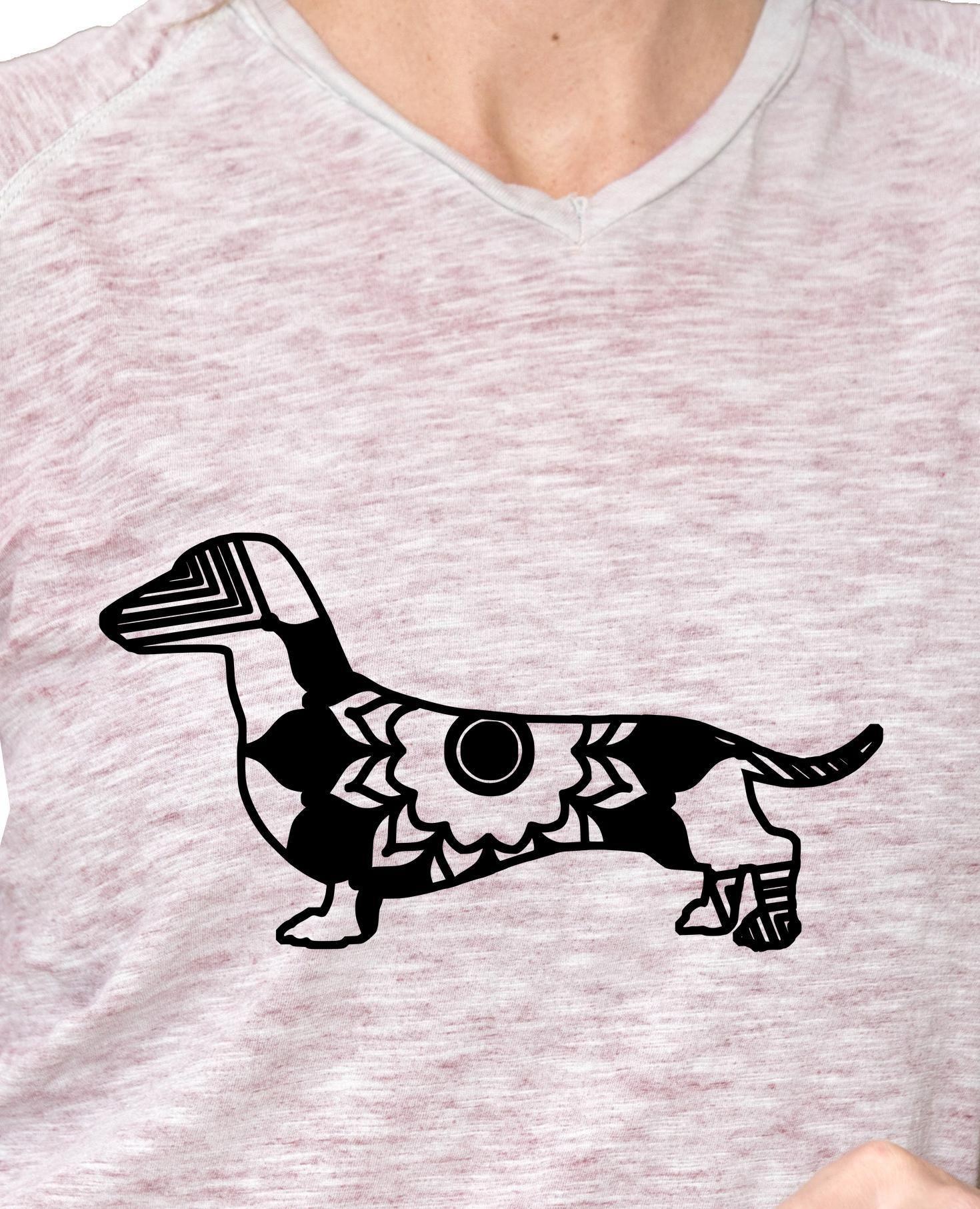 Dachshund Mandala Animal Svg T Shirt Digital Clipart Mandala