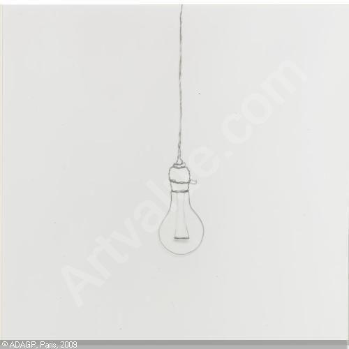 Vik Muniz Wire Art Lightbulb