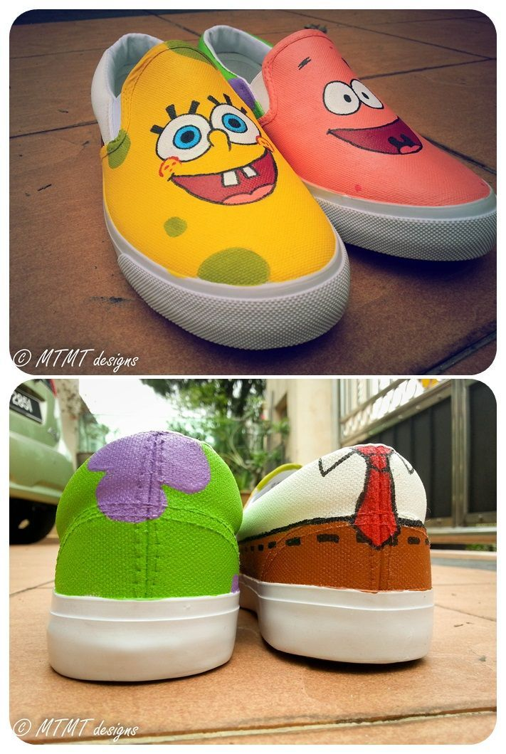 Shoes Spongebob And Patrick Came Together Again Di 2020