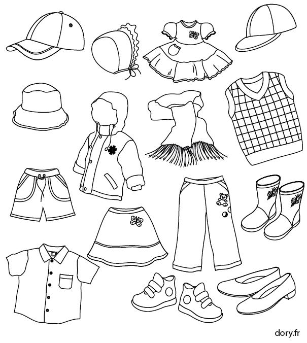 Dessin imprimer des v tements d 39 enfants coloriage for Idee creation vetement