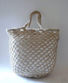 Gkkreativ Anleitung Einkaufsnetz Aus Paketschnur Häkeln Crochet