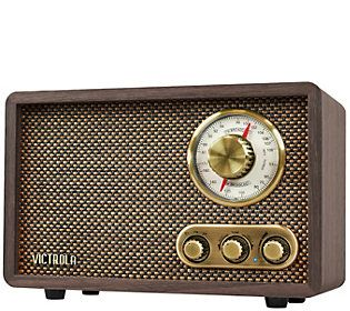 Victrola Retro Wood Bluetooth Am Fm Radio Withrotary Dial Qvc