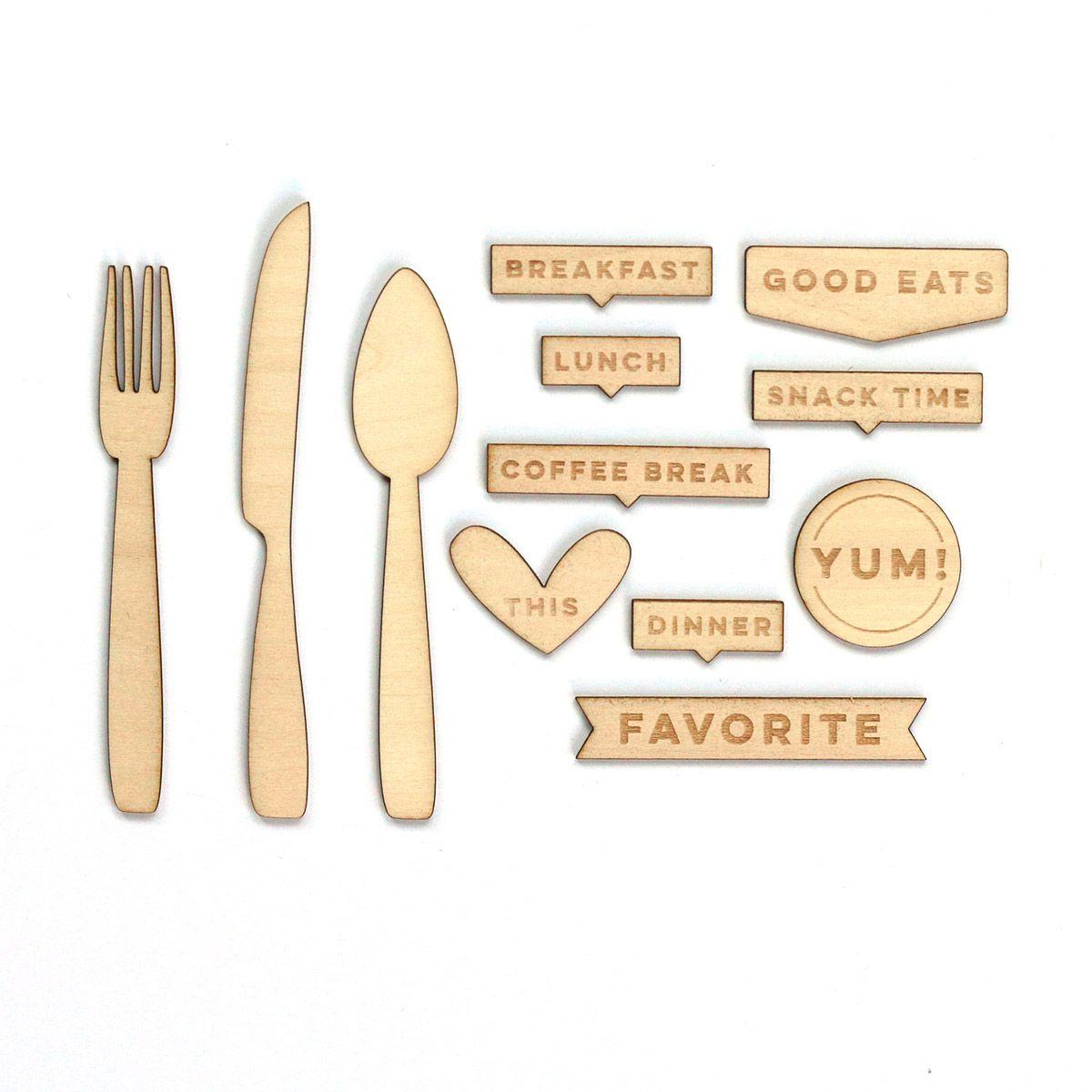 Good Eats Wood Veneer Great For Scrapbook Layouts Project