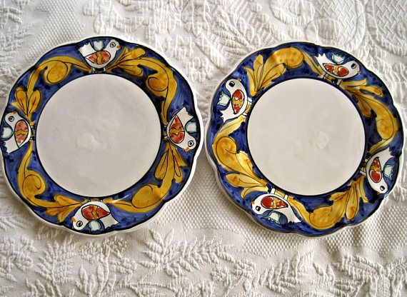 2 Italian Pottery 10 Tuscan Dinner Plates by Desuirint & 2 Italian Pottery 10 Tuscan Dinner Plates by Desuirint | Market ...