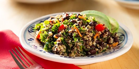 Kale and Quinoa Salad with Black Beans | Great healthy ...