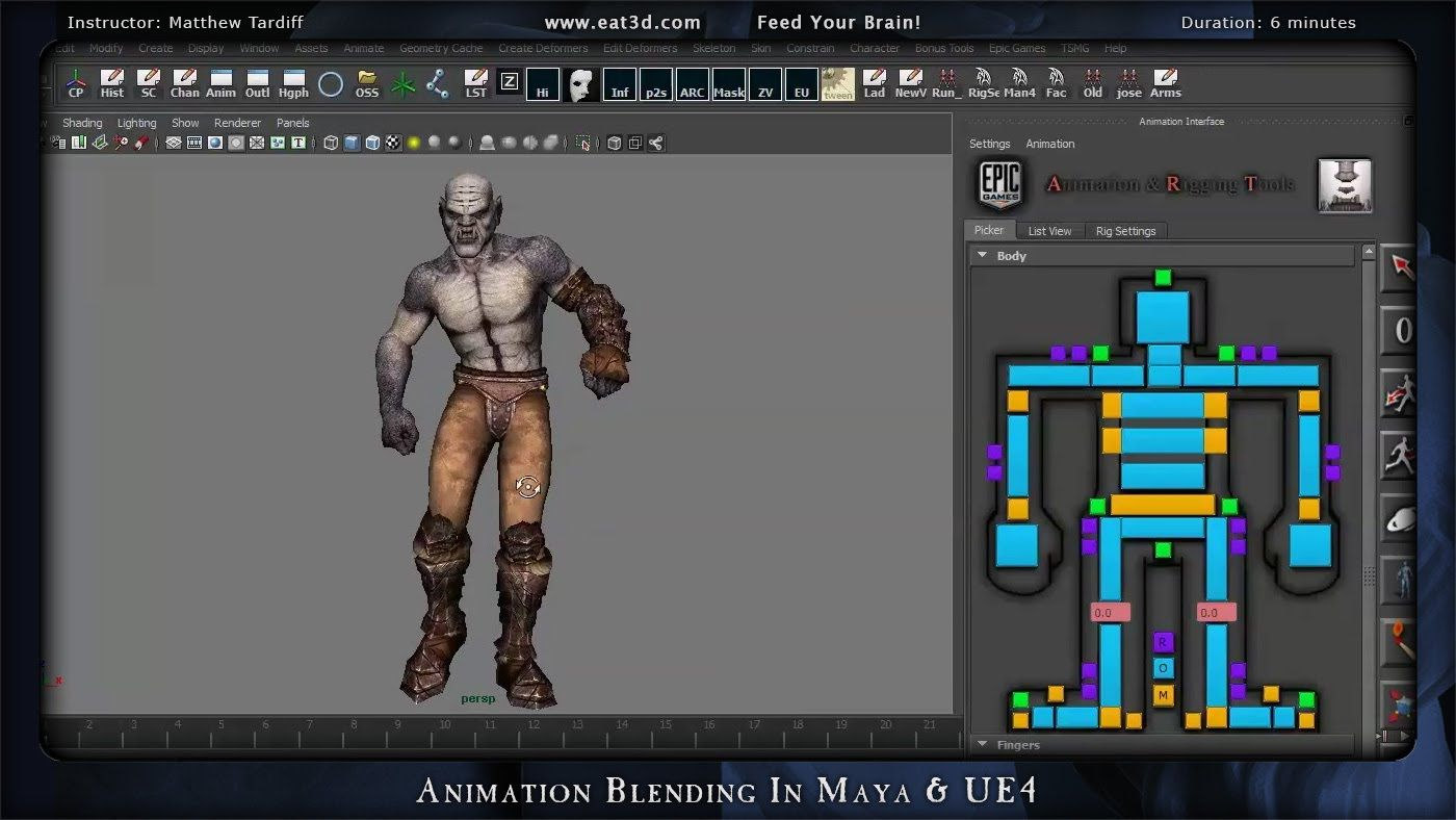Animation Blending In Maya & UE4   HOW TO: games general