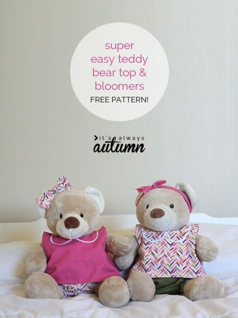 20 easy beginner sewing projects that turn out super cute | Bear ...