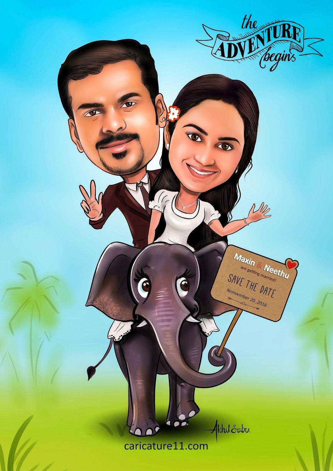 Wedding Caricature Caricature11 Kerala Wedding In 2019