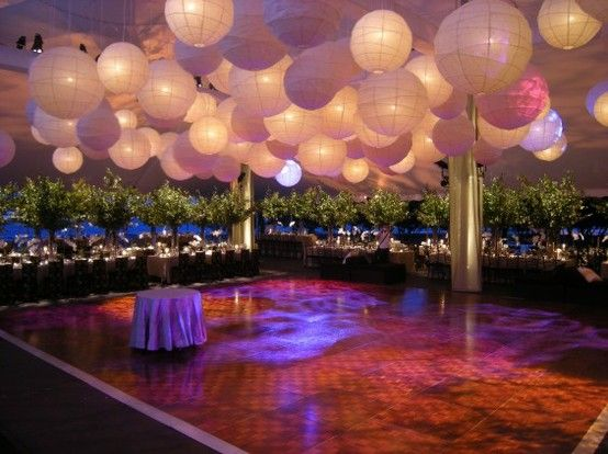 Diy decor for over dance floor wedding ceiling decor draping paper diy decor for over dance floor wedding ceiling decor draping paper lanterns reception reception decor paper lanterns junglespirit Choice Image