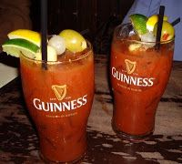 Two bloodies from our Brunch menu.  Seven bloody options available!