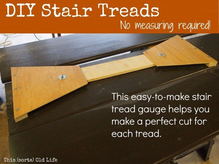 Diy your own stair tread gauge diy stairs stair treads