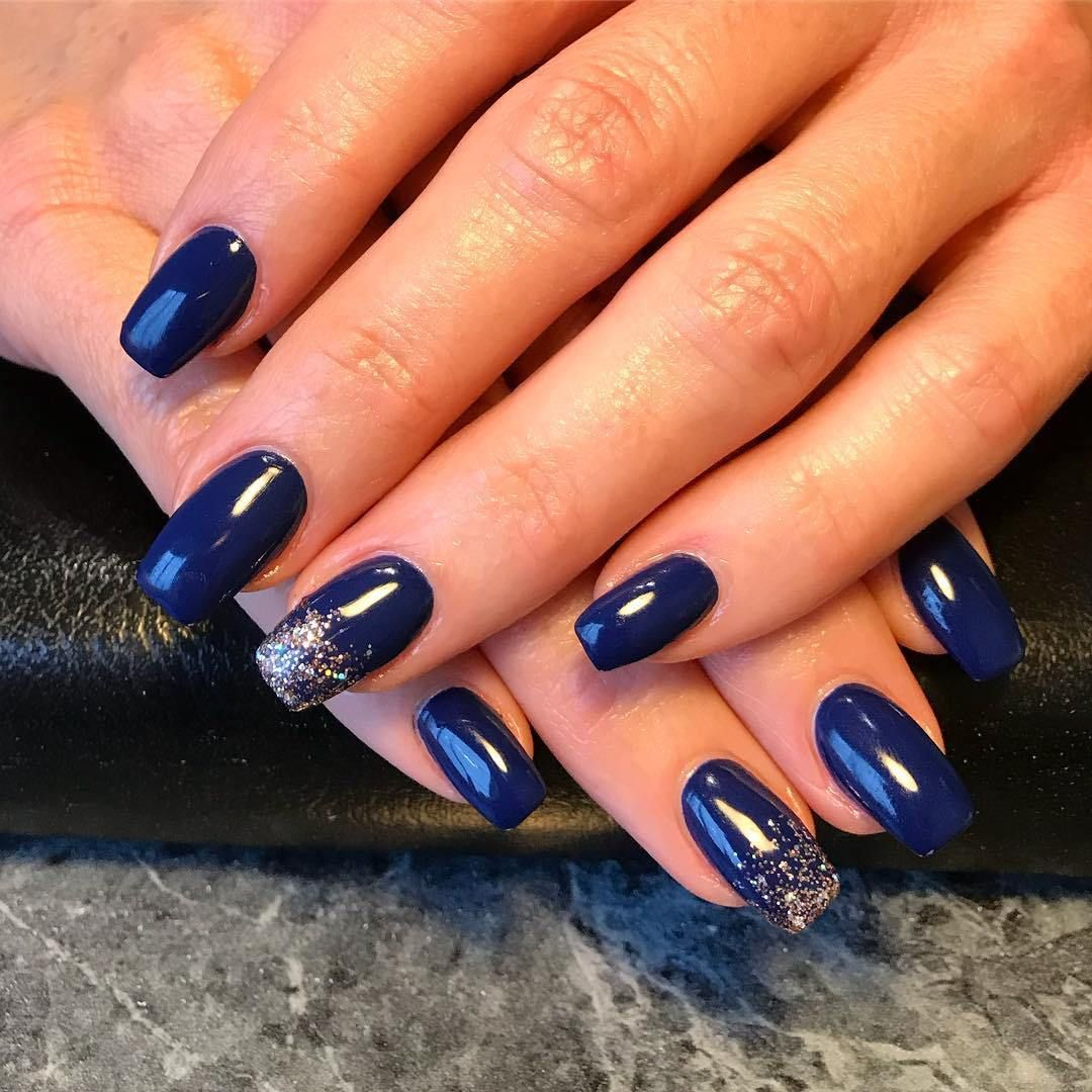 1 Navy Nail Designs And Ideas To Express Your Attitude »  Navy