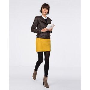 jupe droite en drap de laine moutarde comptoir des cotonniers 110 mode pinterest drap. Black Bedroom Furniture Sets. Home Design Ideas