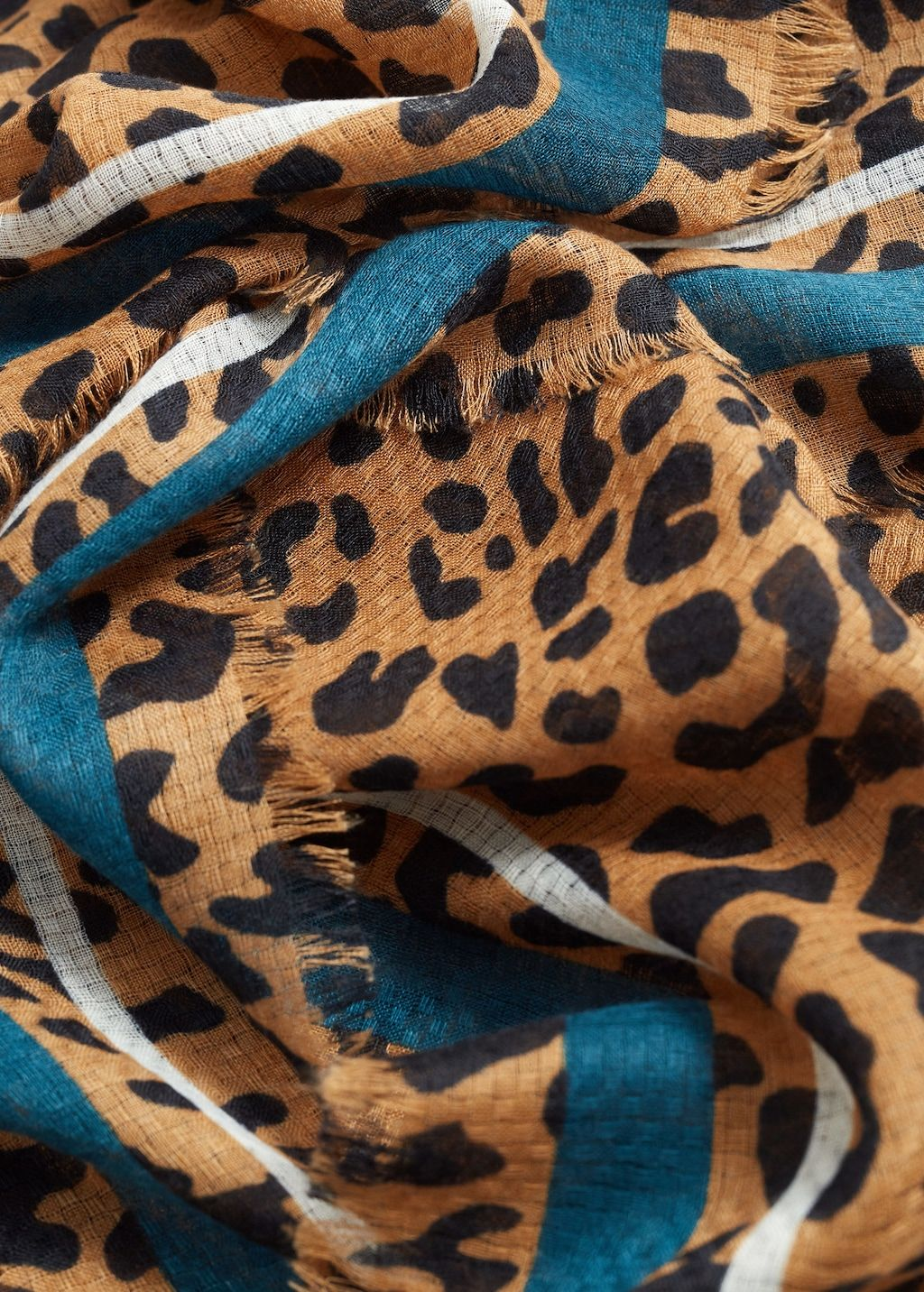Leopard Animal Pattern Woven Scarf in Coffee /& Black colour NEW