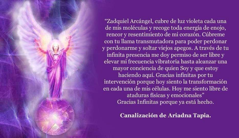 Pin De Carmen En Angeles Zadquiel Arcangel Arcangel Jofiel Resentimiento