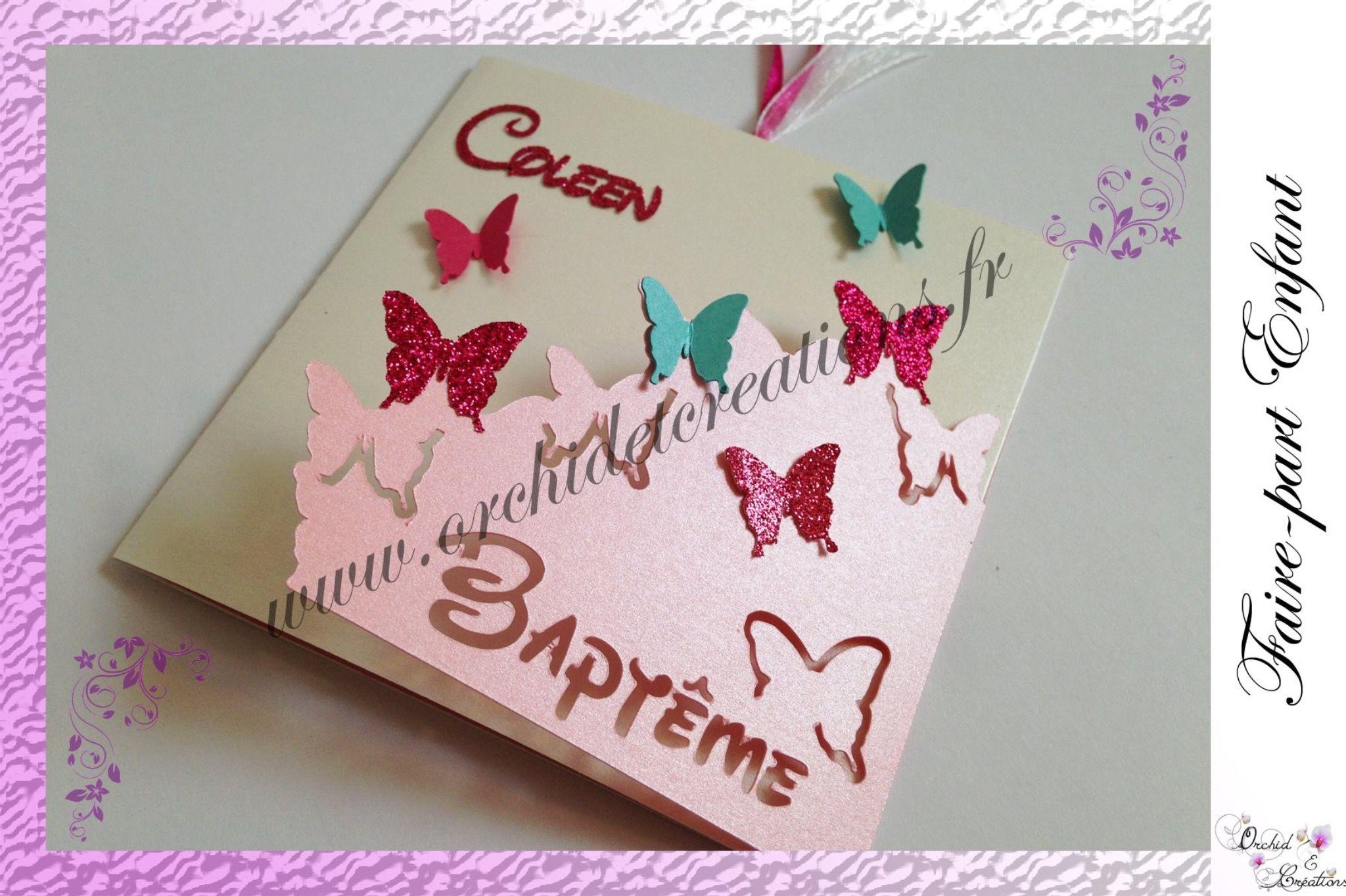 faire part enfant naissance et bapteme papillons et bambi fa on disney faire part. Black Bedroom Furniture Sets. Home Design Ideas