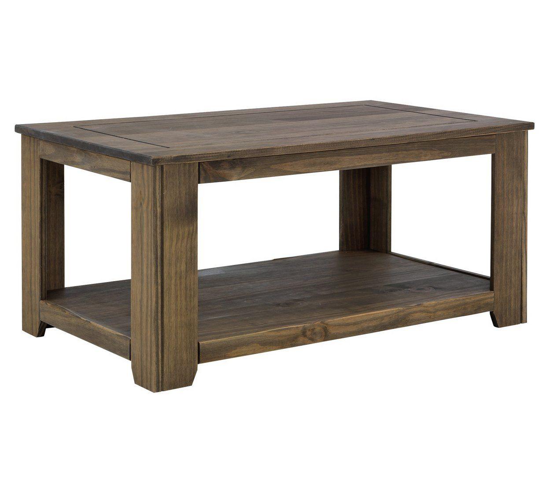 Buy argos home amersham solid wood coffee table dark