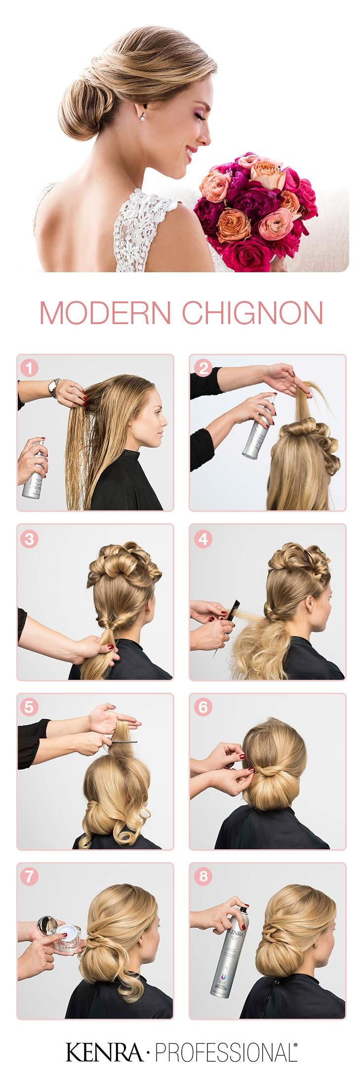 How To Modern Chignon Wedding Updo Hairstyle Tutorials - Classic hairstyle tutorials