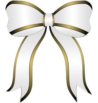 White Bow Gift Party Bow Ribbon White Bow Bows Gifts