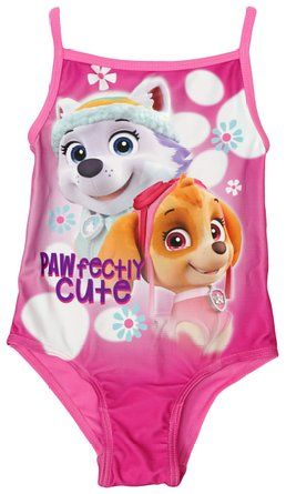 Girls Paw Patrol Pawfectly Cute Skye Everest Swimming Costume