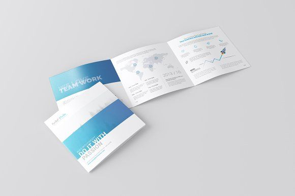 Square Trifold Brochure Mockup By Toasin On Creativemarket