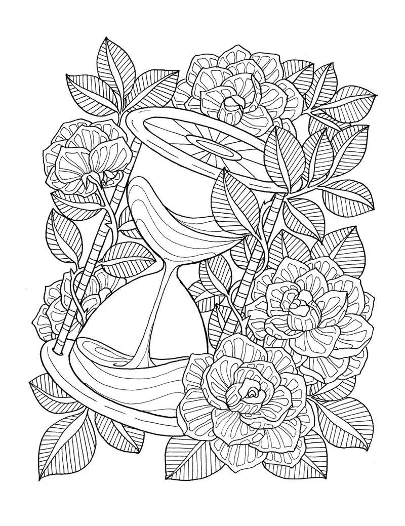 2106 Coloring Book Agenda Ink On Paper Mandala Coloring Pages Flower Coloring Pages Coloring Books